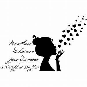 Sticker citation Des milliers de baiser pour des rêves Stickers Musique & Cinema Silhouettes