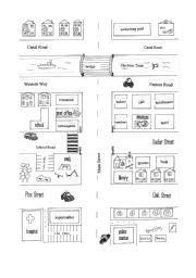 images  map directions worksheet