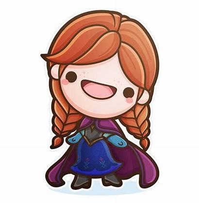 Kawaii Frozen Characters Disney Anna Behance Chibi