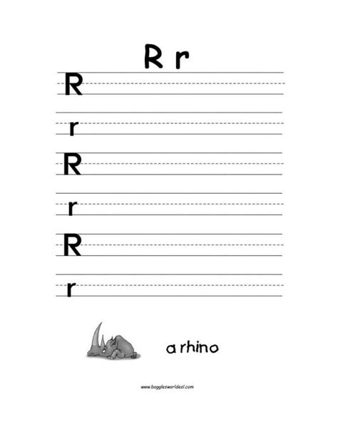 letter r alphabet worksheets