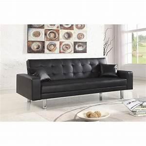 canape clic clac 3 places noir elbe achat vente clic With tapis enfant avec canapé tissu haute qualité