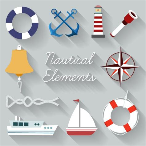 Sailing Boat Elements sailing element collection vector free download