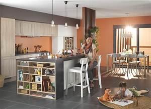 peinture cuisine moderne cuisine bleu et taupe u chaios With peinture pour cuisine moderne