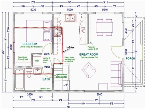 cabin floor plans  loft    manufactured
