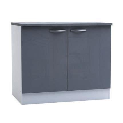but meuble de cuisine bas meuble bas de cuisine 2 portes 100cm coloris achat