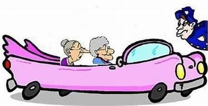 Ladies Lady Clipart Fun Having Cadillac Pink