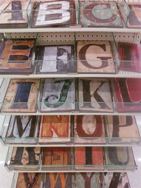 house numbers   painted tin letters