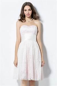 robe demoiselle d39honneur courte en dentelle rose pale With robe demoiselle d honneur dentelle