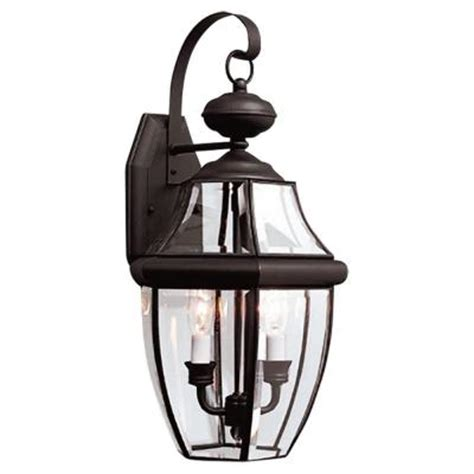 sea gull lighting lancaster 2 light outdoor black wall