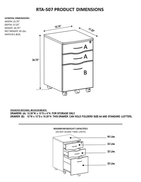 File Cabinet Sizes by Rolling Storage And File Cabinet Techni Mobili