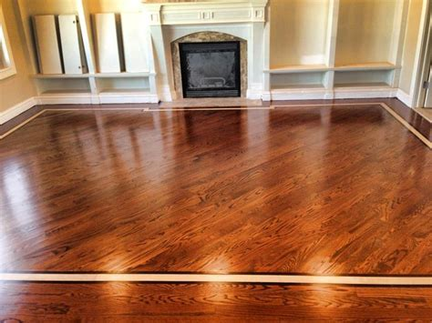Floor: Red Oak 3 1/4 Stain: english chestnut. Border