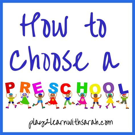how to choose a preschool and thyme 333 | How to Choose a Preschool