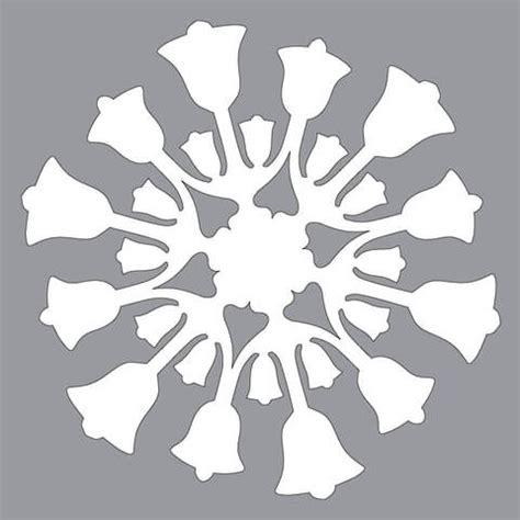 paper snowflake pattern  bells cut  template