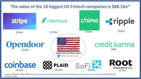10 BIGGEST US FINTECH COMPANIES WORTH $88.1BN - US FINTECH