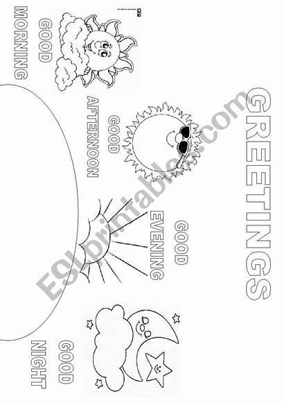 Greetings Coloring Worksheet Painting Esl Eslprintables Worksheets