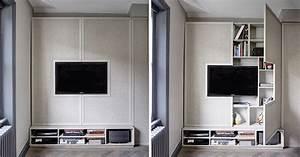 Tv, Wall, Design, Idea