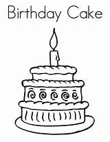 Cake Birthday Coloring Pages Printable sketch template