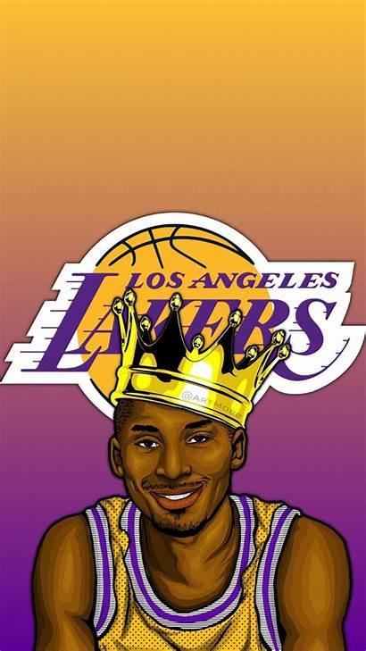 Kobe Cartoon Wallpapers Cool Lakers Backgrounds Reddit