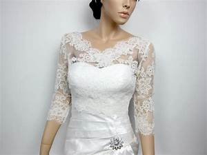 Lace bolero jacket bridal bolero wedding jacket wedding for Wedding dress boleros and shrugs