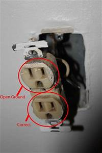 Wall Outlet Receptacle  Open Ground
