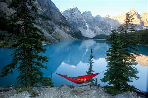 banff national park canada lake moraine hammock visit nationalgeographic beauty travel north