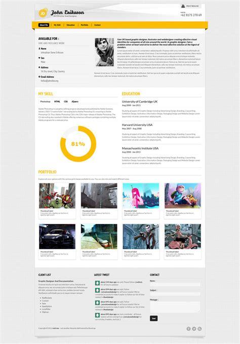 A Few Interesting Resumecv Website Designs