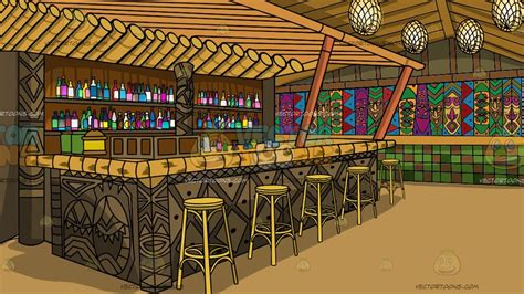 tiki bar background clipart cartoons  vectortoons