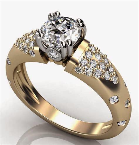 women s diamond thick wedding rings gold design