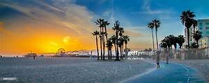 Sunset Over Venice Beach High-res Stock Photo