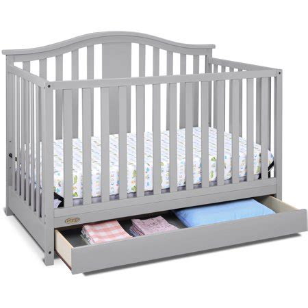 crib with drawers graco solano 4 in 1 convertible crib with drawer pebble