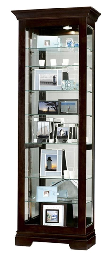 Glass Display Cabinet   Salomon Model With Black Coffee Finish
