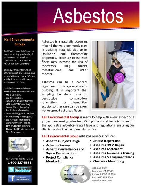 asbestos flyer karl environmental group greater
