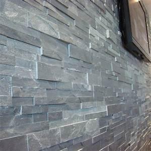 parement en ardoise grise ep2 3cm indoor by capri With mur d ardoise interieur