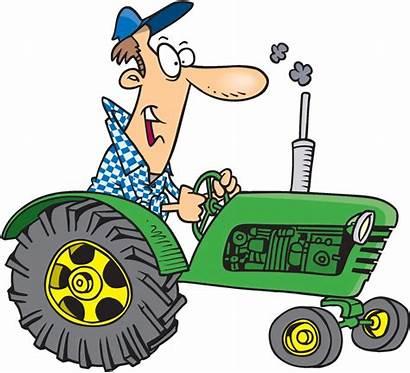 Tractor Farmer Cartoon Clipart Deere John Agriculture