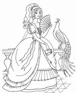 Disney Princess and Animals Coloring Pages To Kids