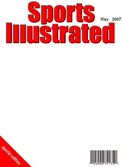 Magazine Cover Template Sports Illustrated Blank Cover