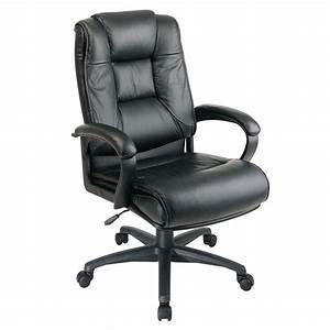 Office, Star, Deluxe, High-back, Adjustable, Executive, Leather, Chair