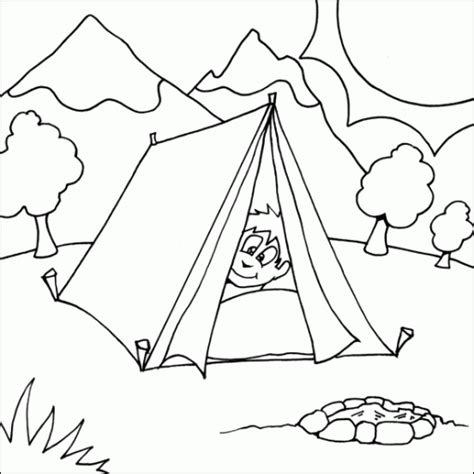 kids camping coloring pages color  pages coloring