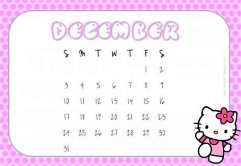 printable  kitty calendars