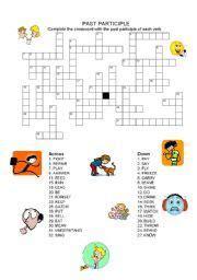 english  participle worksheet
