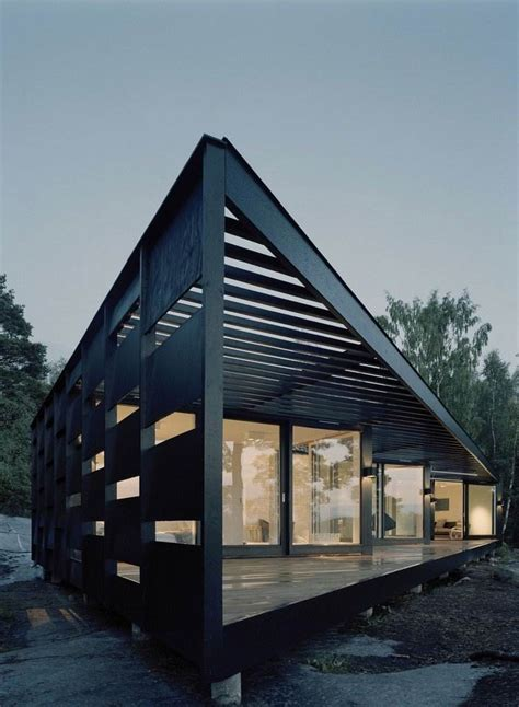 Modern House In Elegant Three Angle Prism Structure