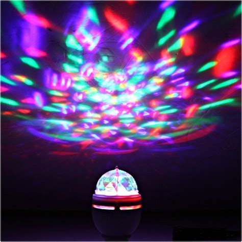 led party light bulb rotating led strobe bulb multi color changing disco