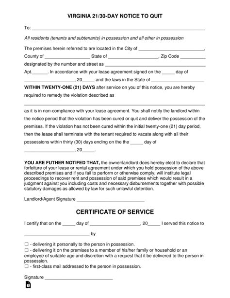 30 day notice to vacate ohio form 30 day notice to vacate letter florida free virginia 21
