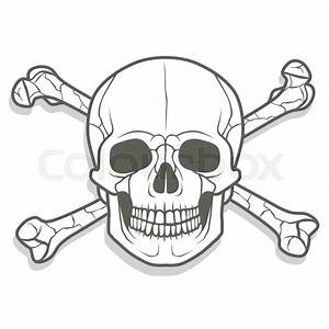 Skull And Crossbones Jolly Roger Vintage Pirate Style Sign