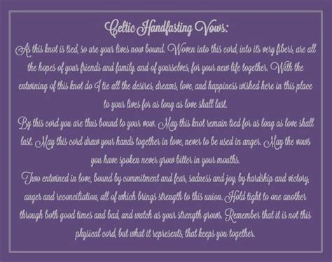 Handfasting Ceremony Vows