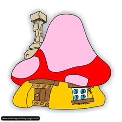 Smurf Village Coloring Pages