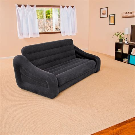 blow up sofa bed black inflatable double blow up cing kids air bed sofa