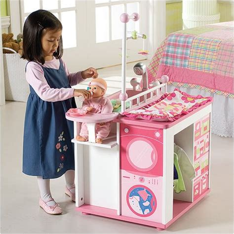 baby doll changing table and care center wooden baby doll care center images