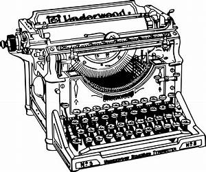 Clipart - Simple Old Typewriter