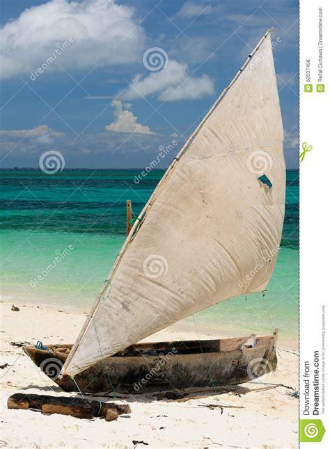 Traditional Fishing Boat Zanzibar by Tanzania Zanzibar Stock Photo Image 62037456